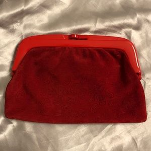 ITALIAN LEATHER & SUEDE CLUTCH